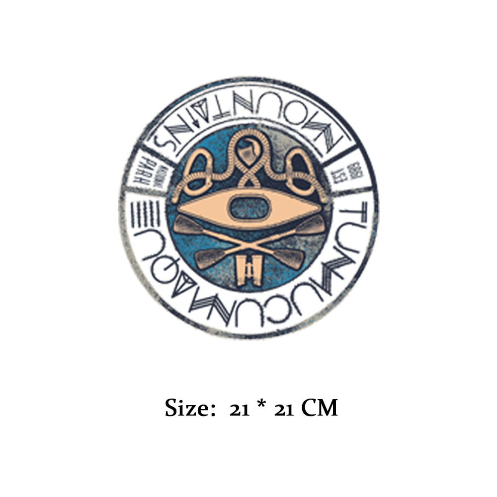 Street fashion products iron patches for clothes transfer printing stickers for DIY T shirt bags rounded logo on A level patches in Patches from Home Garden