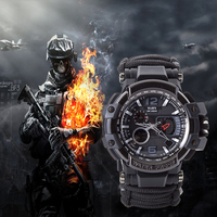 EDC Survival Watch Bracelet Waterproof 50M Watches For Men Women Camping Hiking Military Tactical Gear Outdoor Camping tools