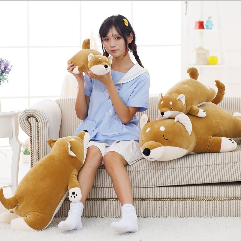 45cm plush toy doll nap pillow pillow husky Shiba office decoration Home Furnishing neck support nap pillow