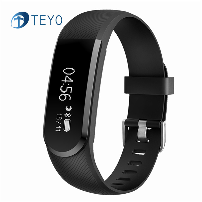 Teyo Heart Rate Monitor Samrt Band ID101U Pedometer Waterproof Fitness Bracelet With USB Charger Wrist Band