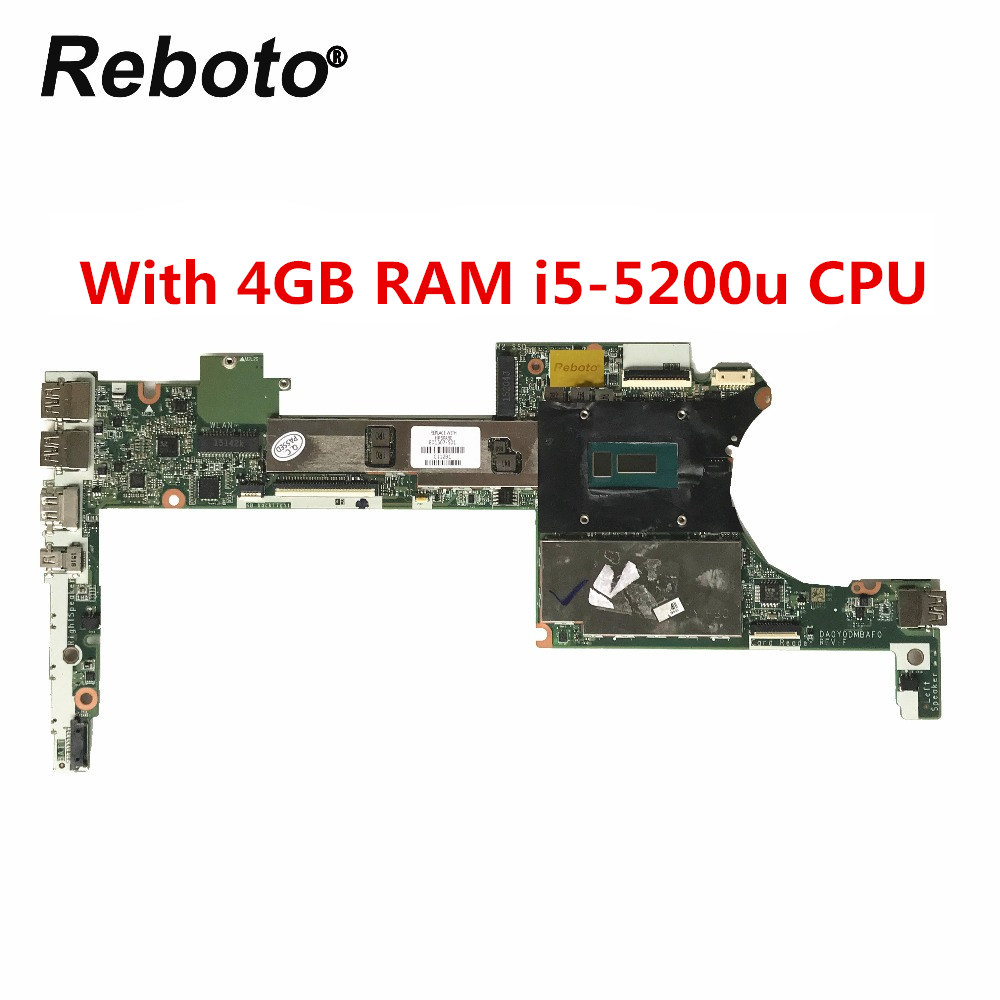 801507 501 For HP Spectre X360 13 4000 Laptop Motherboard With 4GB RAM i5 5200u CPU
