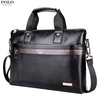 Викуньи поло бизнес сплошной цвет для мужчин мужские портфели Элитный бренд s сумка для ноутбука Мода Большой мужской сумки на плечо
