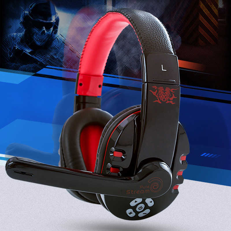 Headphone Bluetooth 4.1 Nirkabel HIFI V8 Earphone Casque Gamer Headset Tahan Air dengan Mikrofon Auricolari Kebisingan Membatalkan