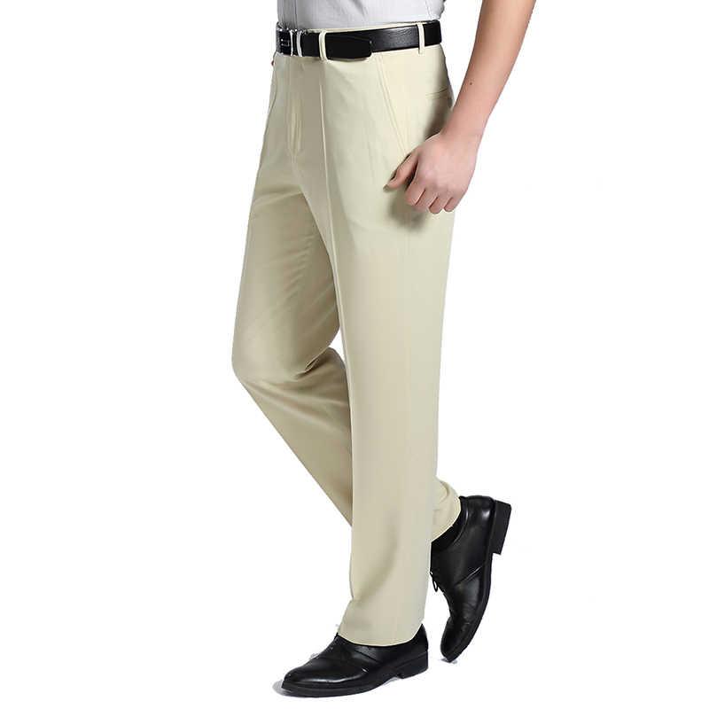 2019 Neue 29-44 Große Größe Männer Sommer Business Anzug Hosen Frühling Herbst Sozialen Büro Hosen Männlichen Männer Nehmen fit Casual Hose WFY10