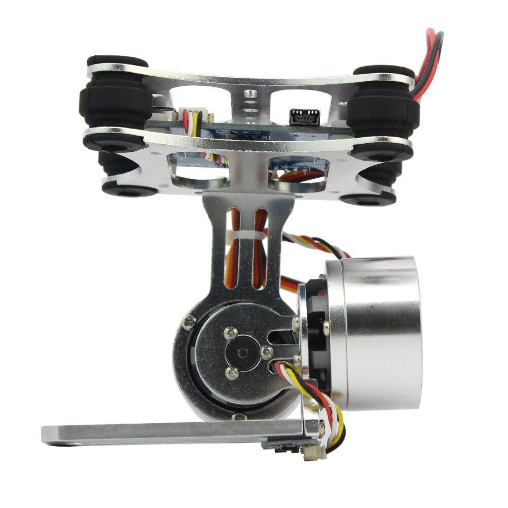 Prise de contrôleur de montage de caméra à cardan sans balai à 2 axes en aluminium pour Gopro 3 3 + caméra pour hélicoptère Drone DJI Phantom Trex 500/550 - 4
