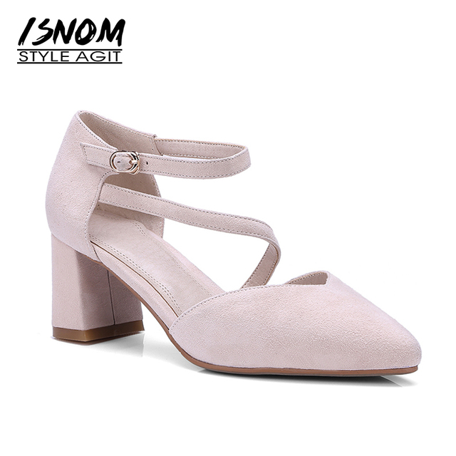 2018 new arrival Sandals women pumps suede leather sweet pink summer shoes big size 33-40 pointed toe high heel shoes woman 100% guaranteed cheap online x5nvLmA