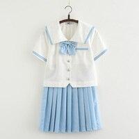Summer short sleevJapanese school uniform skirt jk uniform class uniforms sailor suit college wind suit female students uniforms