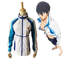 Free! Iwatobi Swim Club Haruka Nanase Iwatobi High School Women/Men Jacket Uniform Anime Cosplay Costume Outdoor Sport Wear Coat