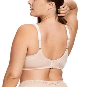 Women\'s Unlined Full Coverage Support Plus Size Wirefree Minimizer Bra