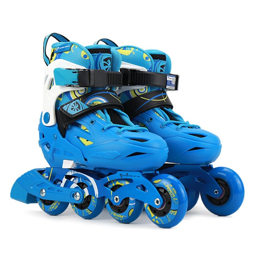 Original Flying Eagle S5S Junior Slalom Inline Skates Child Size Adjustable  Roller Skating Shoes Kids Free 41d0d51eda