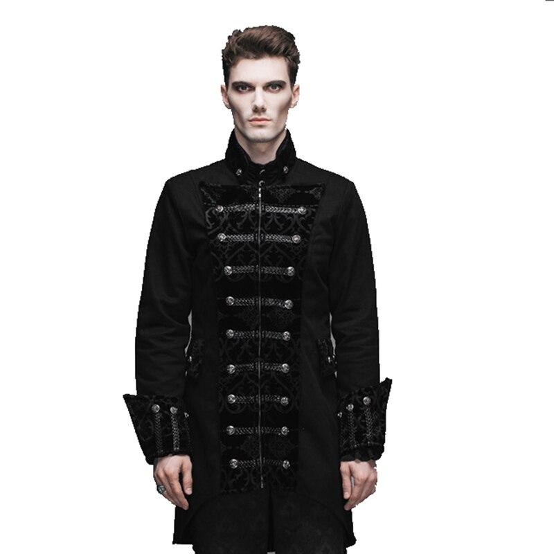Le nouveau steampunk gothique longue Angleterre Style poussière manteau cultiver sa moralité homme manteaux veste cour banquet hommes tranchée manteau