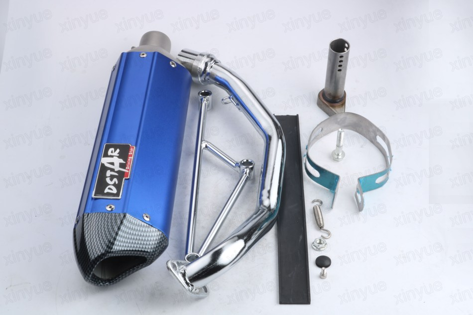 5 Color Scooter Performance Exhaust System GY6 125cc 150cc 152QMI 157QMJ Chinese Scooter Parts gy6 scooter driven wheel high performance scooterl drivern scooter fit for 125cc 150cc engine chinese all brand motocross lh 115