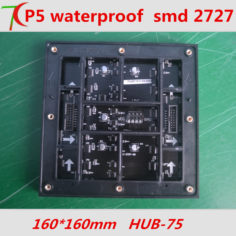 P5 waterproof SMD 8S full color module use for outdoor stage background led screen, 160mm*160mm,32*32 pixels, 40000dots/m2