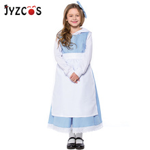 JYZCOS Kid Girl Maid Costume Alice In Wonderland Costume Lolita Apron Dress Halloween Purim Cosplay Costume женское платье lolita dresses maid cosplay costume