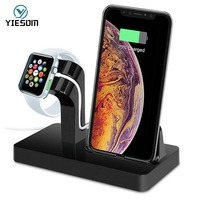 YIESOM 2 IN 1 Charging Dock Station Cradle Stand Holder Charger For iPhone X XR XS Max 8 7 6S 6 Plus SE For Apple Watch Charger|phone holder|holder for|stand for mobile phone -