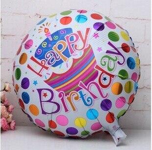 XXPWJ new hot 18 inches aluminum Cartoon Happy Birthday balloons party decoratio