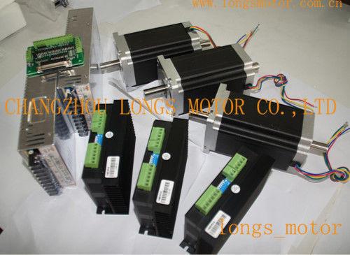 De us ship 3axis nema 34 stepper motor 1600oz dual shaft 3 for Nema 34 stepper motor driver