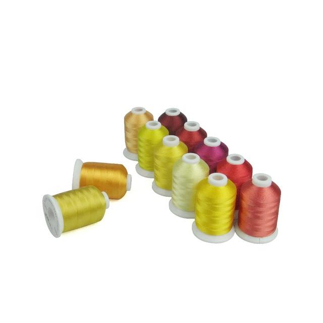 Simthread Rayon Stickmaschine Gewinde 12 Weihnachten Farben, 800 Mt ...