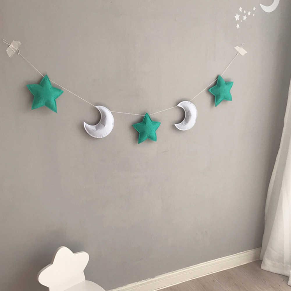 ديكور غرفة الطفل الطفل الوفير لحديثي الولادة القمر ستار على شكل الجدار الشنق خيمة الديكور الرضع النوم المهد الفراش مجموعات جديد
