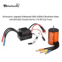 цена на Newest Upgrade Waterproof 3900KV 4300KV  Brushless Motor 60A ESC Sensorless Motor Set for 1/10 RC Car Truck