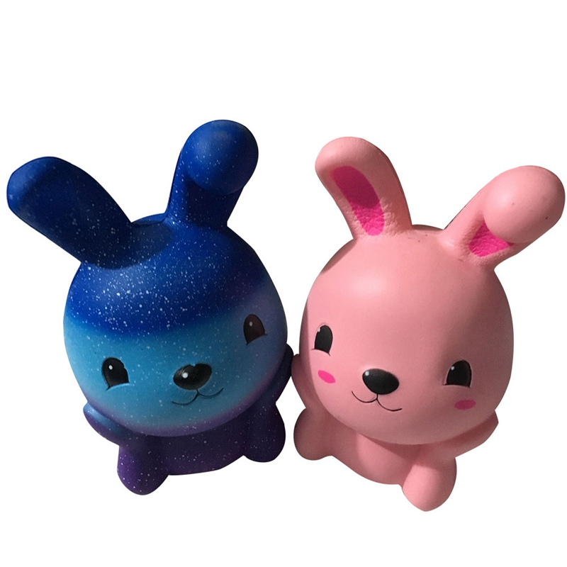 Cute 15cm Squishies Pink Rabbit Squeeze Slow Rising Fun Toy Gift Phone Strap Decor Christmas Gift