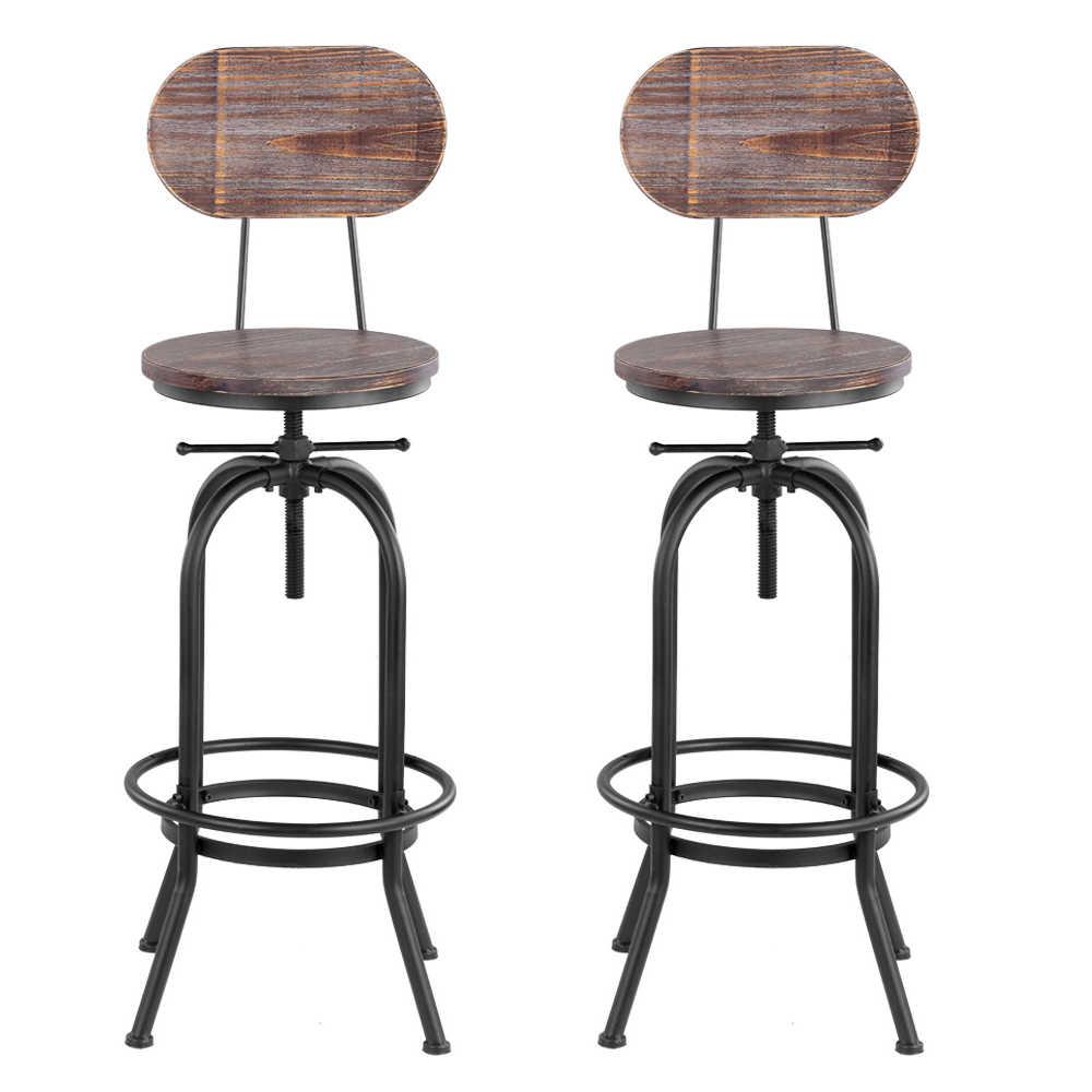 IKayaa барный стул мебельные инструменты промышленный барный стул морден Регулируемый поворотный Ананасовый барные стулья кухонный обеденный стул