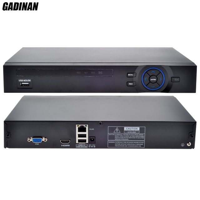 GADINAN 8CH 1080P or 12CH 960P NVR H.264 for IP 2MP 1.3MP 1MP CCTV P2P Video Recorder Netwerk Support 2HDD Ports HDMI FTP Alarm