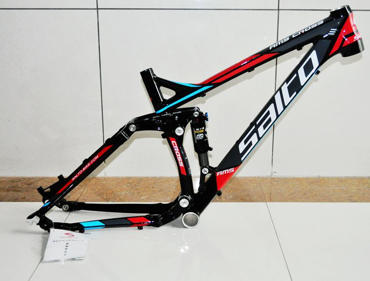 SALTO AMS CROSS 1.0 Mountain Shock Absorber Bicycle Frame Aluminum Alloy Soft Tail MTB Suspension Frame Gloss Finish
