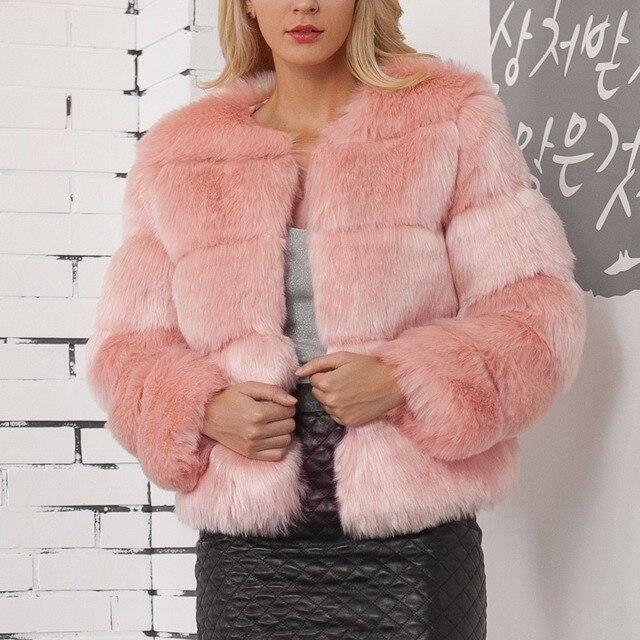 Фото новинка 2020 зимнее теплое пальто из лисьего меха женская однотонная