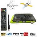 Dual USB Tamanho Mini DVB-S2 HD Receptor de Satélite Digital Suporte Wi-fi Poder Vu Cccam Newcam Youtube Set Top Box + HDMI AV cabo