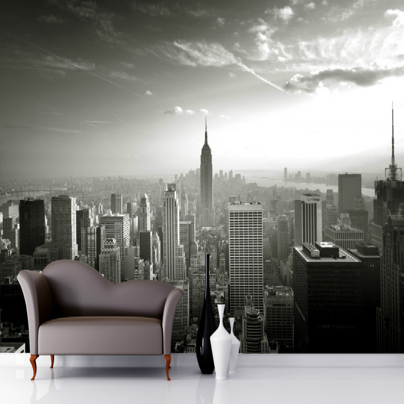 Mural Empire State Skyline Wallpaper Mural photo 3d mural 3D wallpaper photo wall mural wallpaper for living room light green damask self adhesive 3d photo wallpaper 3d modern european large mural living room 3d wallpaper d8792