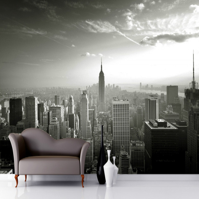 Mural Empire State Skyline Wallpaper Photo Wall For Living Room