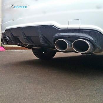 Fit für Mercedes-benz C W204 C63 AMG carbon heckdiffusor stoßstange hinten lip heckspoiler