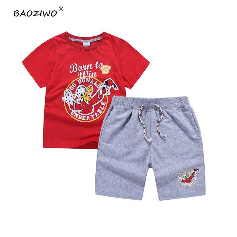 BAOZIWO boys clothing sets kids children clothing boys clothes cotton shirt  knitted pants style 73626,