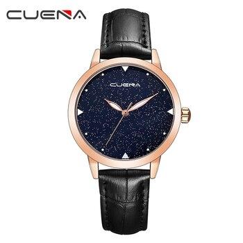 CUENA kobiety zegarki moda na co dzień panie zegarek kwarcowy Top marka luksusowe zegarki wodoodporne Relogio Feminino Montre Femme