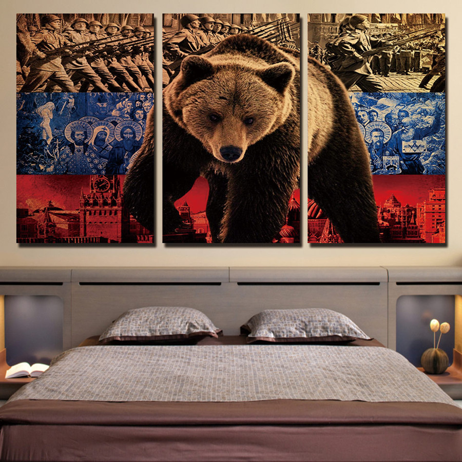 3 Pieces Russian Bear Soldiers,Diamond Painting Cross Stitch diy Painting,Home Decor Embroidery,Full Diamond Mosaic stickers