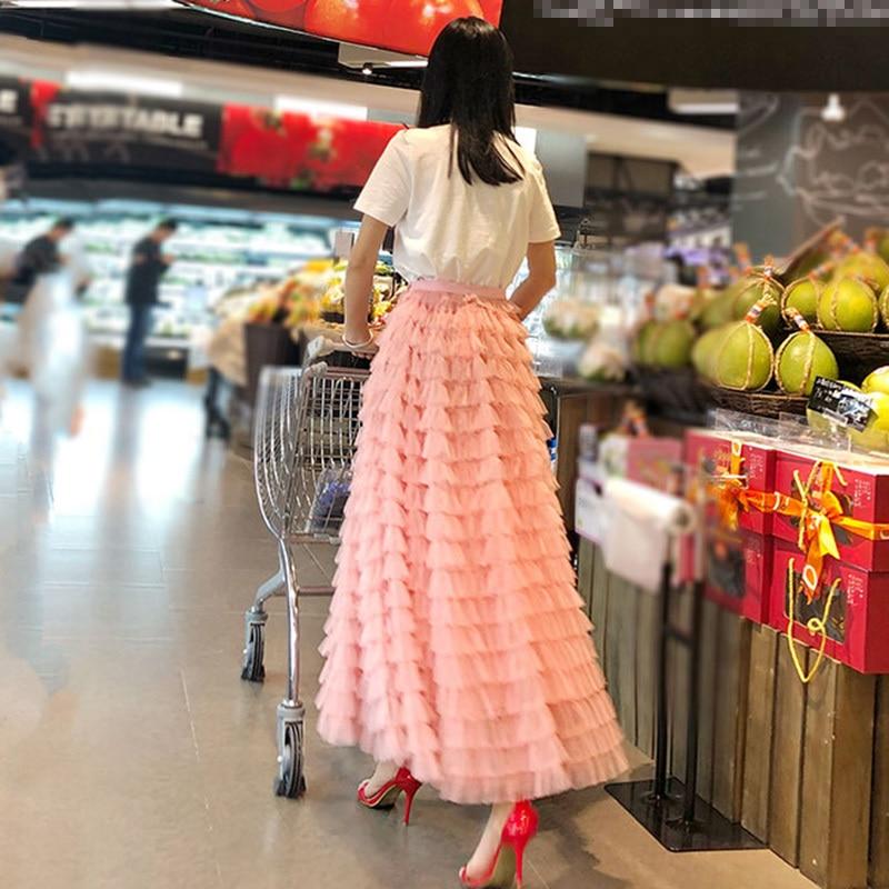 Nouveau De Black Splice Appliques Maille Vgh Lâche Mode Marée D'été Haute Taille 2018 Femmes Jupes pink Oversize Noir Jupe Plissée wERTUq