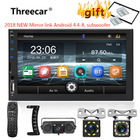2 din car radio 7 HD Touch Screen Player mirrorlink Android MP5 SD/FM/MP4/USB/AUX/Bluetooth Car Audio For Rear View Camera new