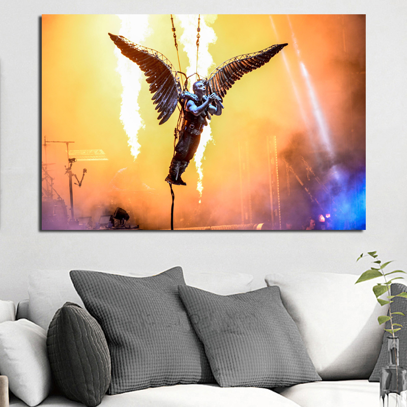 Rammsteines Europe Stadium Tour 2019 Poster Canvas Painting Print Bedroom Home Decor Modern Wall Art Oil Painting Framework HD(China)