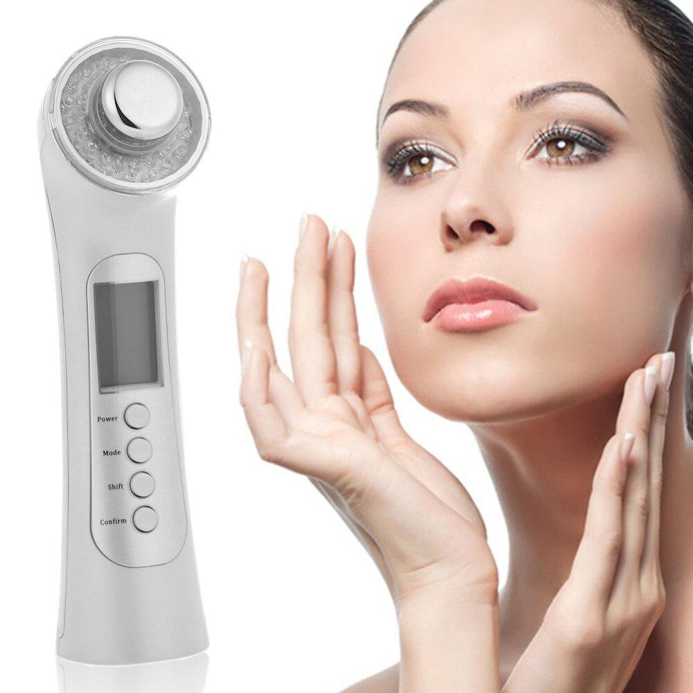 Machine de beauté nettoyage du visage Photon ultrasons masseur du visage acné point noir enlèvement visage nettoyage en profondeur soins de la peau
