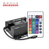 Mini Controle Remoto IR 24Key LEVOU Controlador RGB de Alta Tensão AC110-220V 3 * 2A Max Power 1000 W para Faixa De Alta Tensão LEVOU Luz/Corda luz