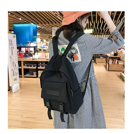HTB1tSeUXy 1gK0jSZFqq6ApaXXaL 2019 Backpack Women Backpack Fashion Women Shoulder Bag solid color School Bag For Teenage Girl Children Backpacks Travel Bag