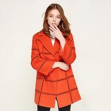 Plaid Orange Blazer Femmes Bouton Laine Impression Plus La Taille Élégant  Tweed Veste de Velours Femmes Harajuku Bayan Mont Femm. 5e5516e860d
