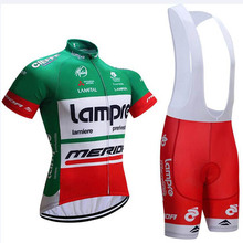 lampre cycling jersey men 2018 pro team short sleeve set ropa ciclismo  hombre Summer MTB bike 8e171fe77