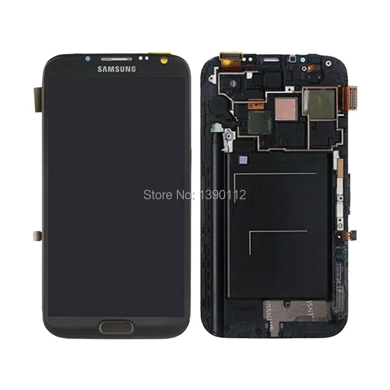FOR Samsung Galaxy Note 2 L900 i605 LCD Screen Touch Digitizer + Frame Bezel