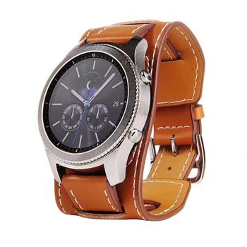 Fashion Top Brand Luxury Replacement Genuine Leather Watch Band Bracelet for Samsung Gear S3 Frontier