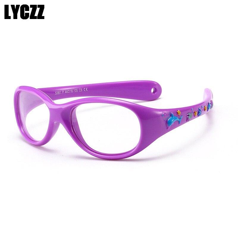 035005819ae LYCZZ Optical Myopia Children Glasses Frame Plastic Titanium Boy Girls  Correction Protective Kids Eyewear Sports eyeglass