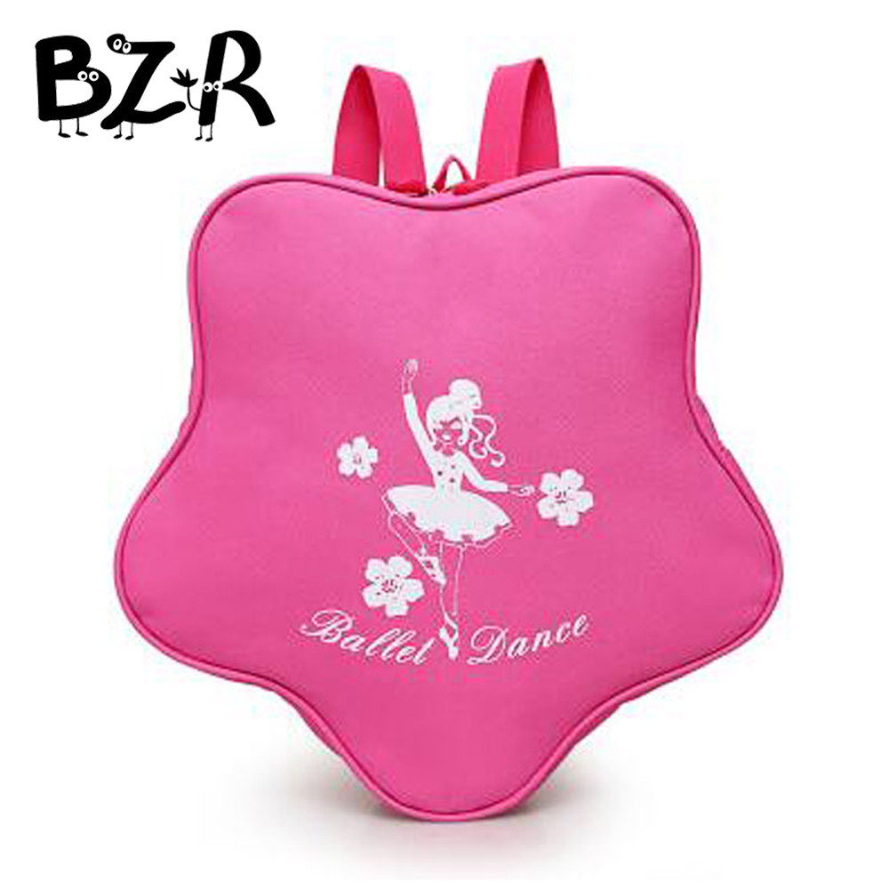 Bazzery Fashion Irregular Backpack Embroidery Princess Children Toddler Kids Girls Dance Bag Waterproof Rose Pink Ballet Bag