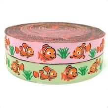 5/816mm 10yards/lot Zakka handmade accessories ribbon laciness Jacquard Ribbon with clownfish
