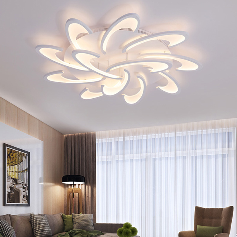 Modern Acrylic Design Ceiling Lights Bedroom Living Room 90~260V White Ceiling Lamp LED Home Lighting Light Fixtures plafonnier new modern led ceiling lights for living room bedroom plafon home lighting combination white and black home deco ceiling lamp